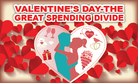 Valentine's Day: the great spending divide