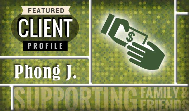 Phong J. Client Profile Graphic