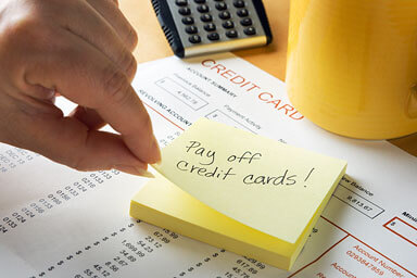 post-it note payoff credit cards
