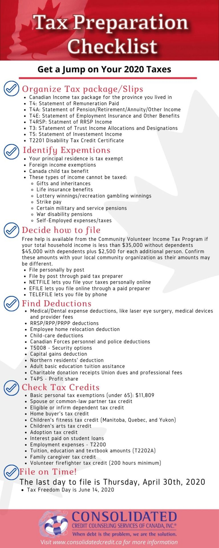 Tax preparation checklist 2020