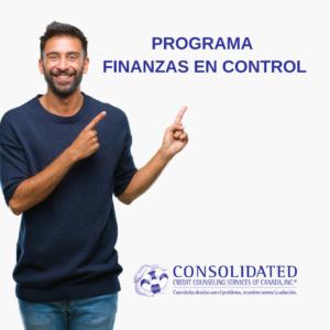 El programa Finanzas en Control le ayudará a establecer un presupuesto y un plan de recuperación financiera en tres pasos sencillos.