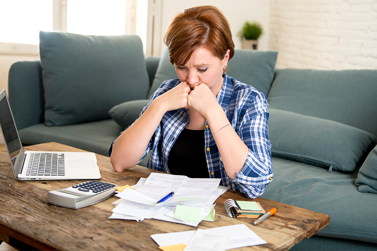 woman worrying about bills