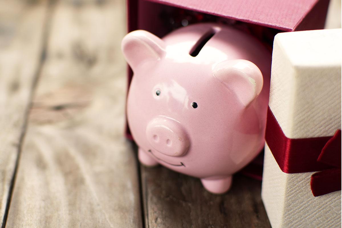 Piggy bank for christmas budget