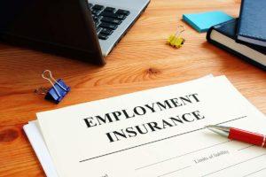 Unemployment benefits application form.